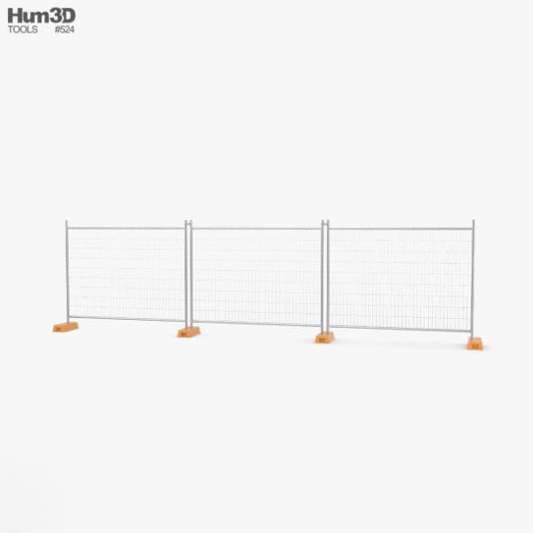 Construction Fence - 3DOcean Item for Sale