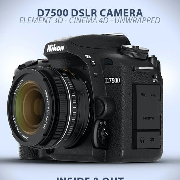 DSLR D7500 Camera Element 3D Model