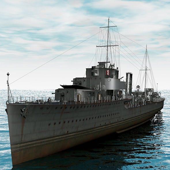 Acasta warship model - 3DOcean Item for Sale
