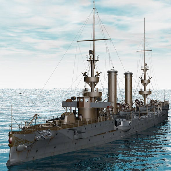 Warship Albany - 3DOcean Item for Sale