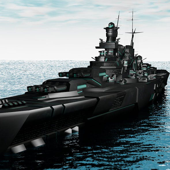 Science fiction warship - 3DOcean Item for Sale