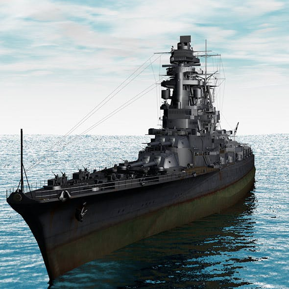 Warship Amagi - 3DOcean Item for Sale