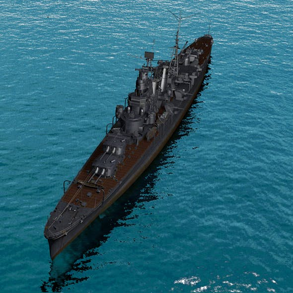 warship - 3DOcean Item for Sale