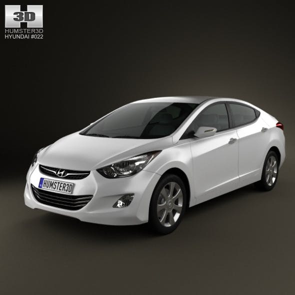 Hyundai Elantra (i35) Sedan 2012 - 3DOcean Item for Sale