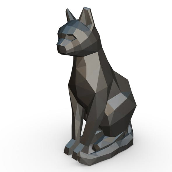 Cat sitting figure