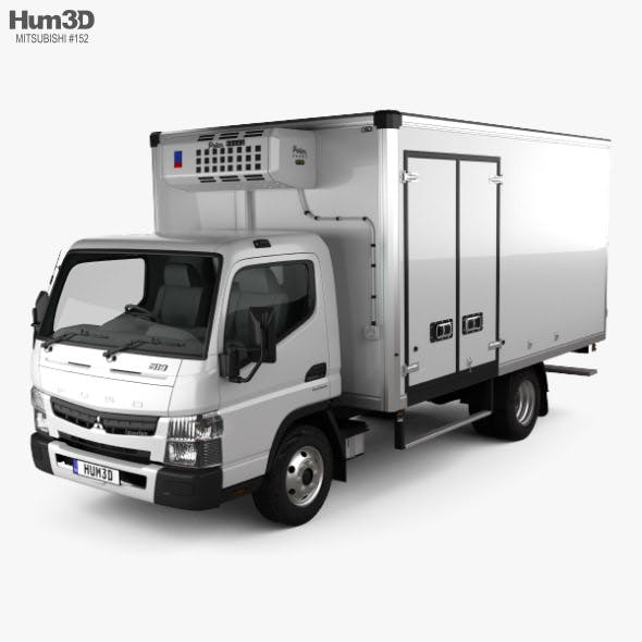 Mitsubishi Fuso Canter (918) Wide Single Cab Refrigerator Truck 2016 - 3DOcean Item for Sale