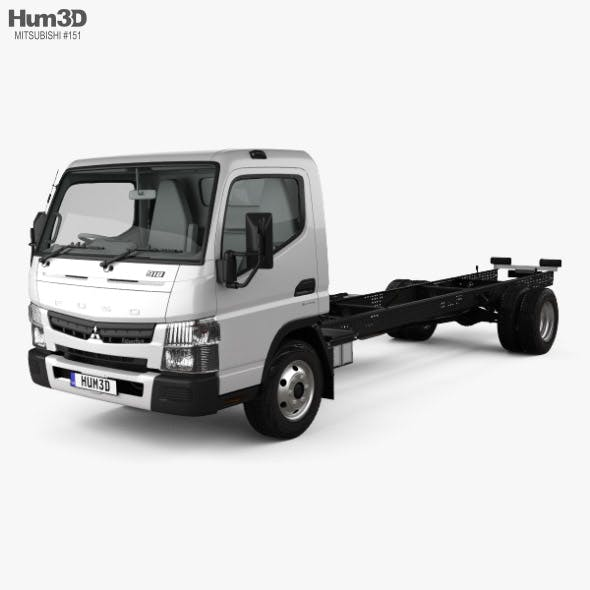 Mitsubishi Fuso Canter (918) Wide Single Cab Chassis Truck with HQ interior 2016 - 3DOcean Item for Sale