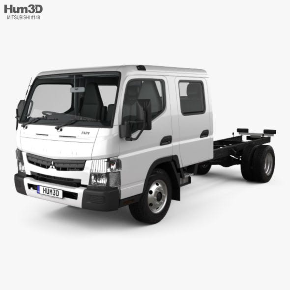 Mitsubishi Fuso Canter (815) Wide Crew Cab Chassis Truck with HQ interior 2016