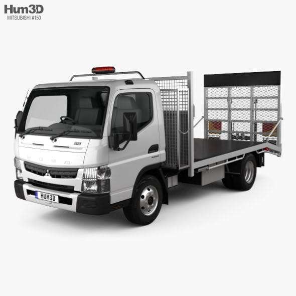 Mitsubishi Fuso Canter (815) Wide Single Cab Tilt Tray Beaver Tail Truck 2016 - 3DOcean Item for Sale