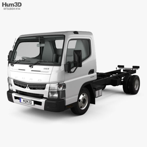 Mitsubishi Fuso Canter (515) Wide Single Cab Chassis Truck with HQ interior 2016 - 3DOcean Item for Sale