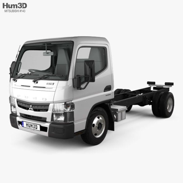 Mitsubishi Fuso Canter (515) Super Low City Cab Chassis Truck with HQ interior 2016 - 3DOcean Item for Sale