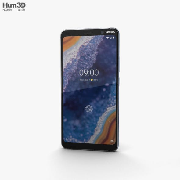 Nokia 9 PureView Blue - 3DOcean Item for Sale