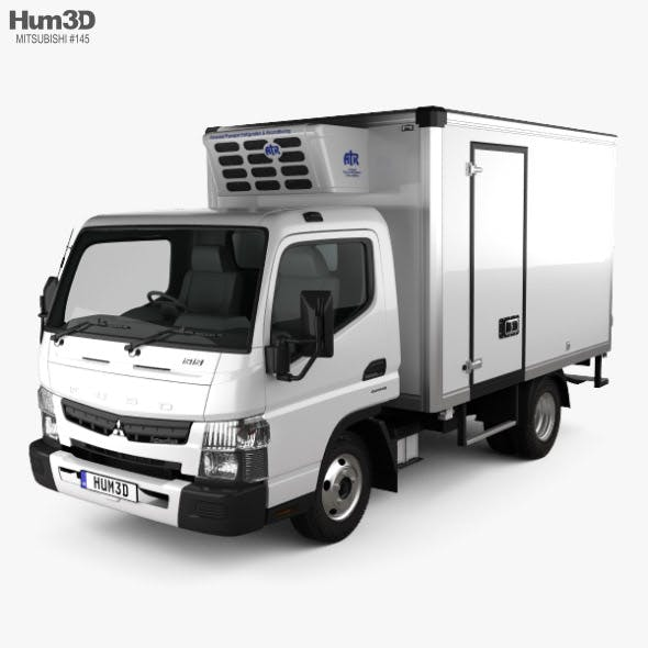 Mitsubishi Fuso Canter (515) Wide Single Cab Refrigerator Truck 2016 - 3DOcean Item for Sale