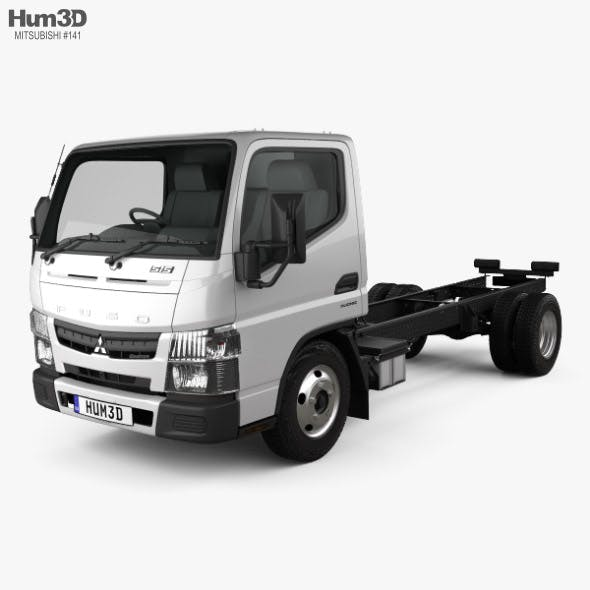 Mitsubishi Fuso Canter (515) City Single Cab Low Roof Chassis Truck 2016 - 3DOcean Item for Sale
