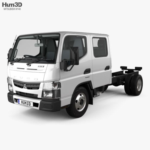 Mitsubishi Fuso Canter (515) City Crew Cab Chassis Truck with HQ interior 2016 - 3DOcean Item for Sale