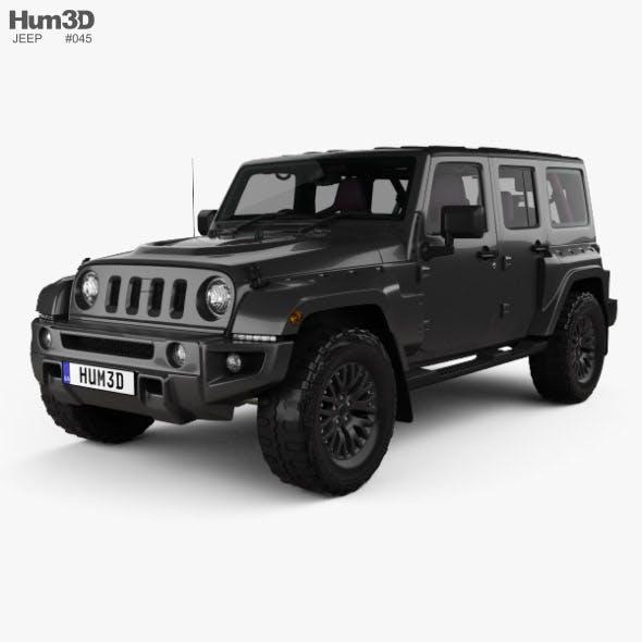 Jeep Wrangler Project Kahn JC300 Chelsea Black Hawk 4-door RHD with HQ interior 2016