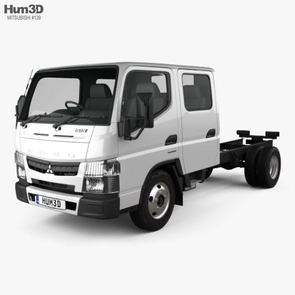 Mitsubishi Fuso Canter (515) City Crew Cab Chassis Truck 2016 - 3DOcean Item for Sale