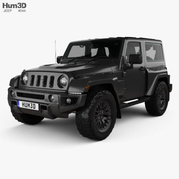 Jeep Wrangler Project Kahn JC300 Chelsea Black Hawk 2-door RHD with HQ interior 2016