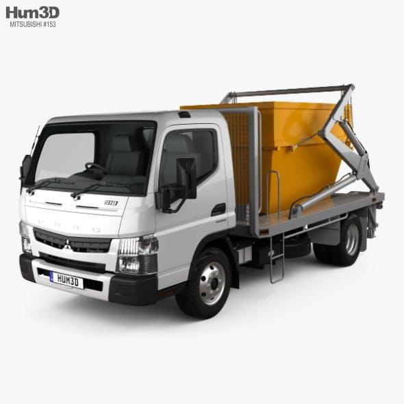 Mitsubishi Fuso Canter (918) Wide Single Cab Skip Bin Truck 2016