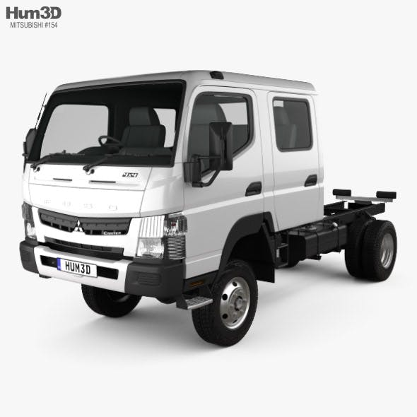 Mitsubishi Fuso Canter (FG) Wide Crew Cab Chassis Truck 2016 - 3DOcean Item for Sale