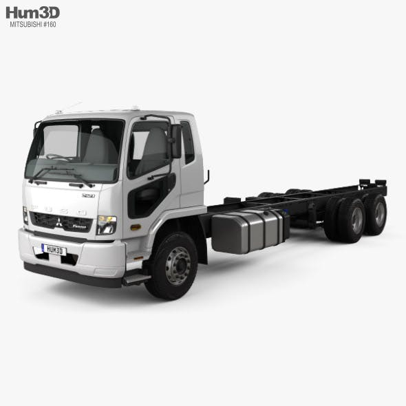 Mitsubishi Fuso Fighter (2427) Chassis Truck with HQ interior 2017 - 3DOcean Item for Sale