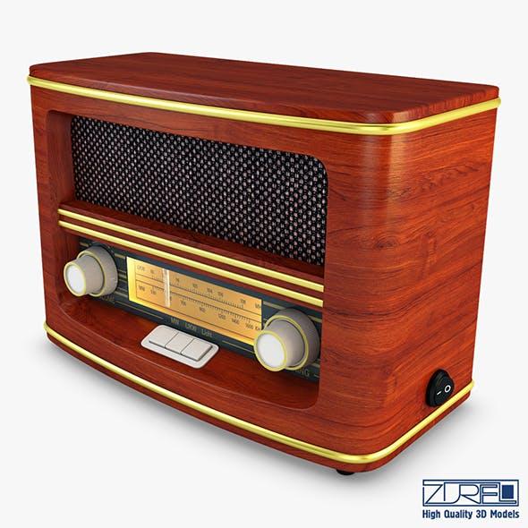 Retro Radio Auna Belle - 3DOcean Item for Sale