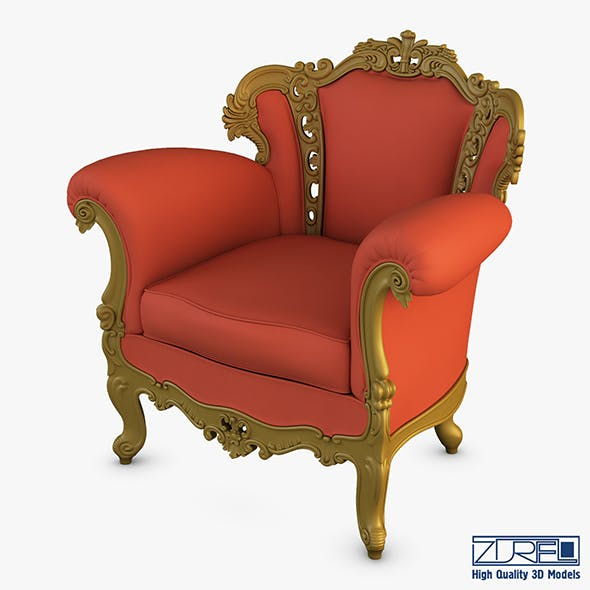 Rolnstreen armchair - 3DOcean Item for Sale