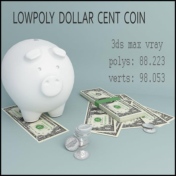dollar cent coin