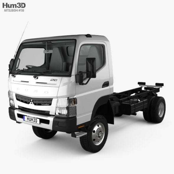 Mitsubishi Fuso Canter (FG) Wide Single Cab Chassis Truck with HQ interior 2016 - 3DOcean Item for Sale