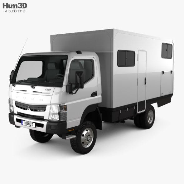 Mitsubishi Fuso Canter (FG) Wide Single Cab Camper Truck 2016 - 3DOcean Item for Sale
