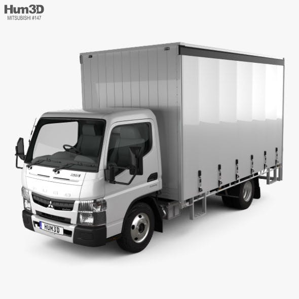 Mitsubishi Fuso Canter (615) Wide Single Cab Curtain Sider Truck 2016 - 3DOcean Item for Sale