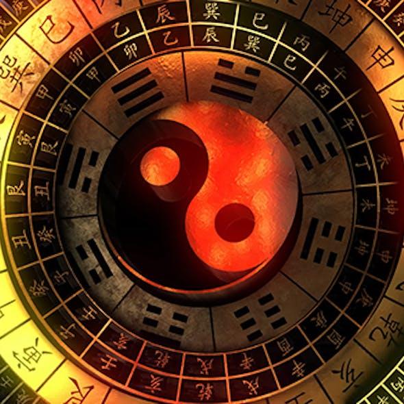 Mysterious Oriental Taiji Compass
