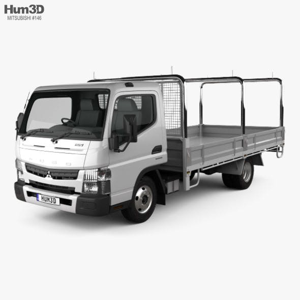 Mitsubishi Fuso Canter (515) Wide Single Cab Tray Truck 2016 - 3DOcean Item for Sale