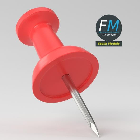 Push pin - 3DOcean Item for Sale