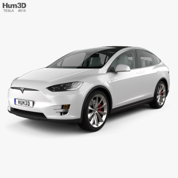 Tesla model X with HQ interior 2016 - 3DOcean Item for Sale