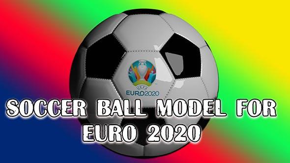 Soccer ball model for EURO 2020 - 3DOcean Item for Sale