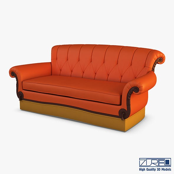Eliotte sofa - 3DOcean Item for Sale