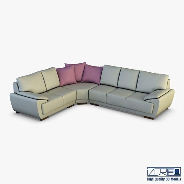 Sofia sofa - 3DOcean Item for Sale