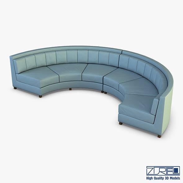 Solidarity round sofa - 3DOcean Item for Sale