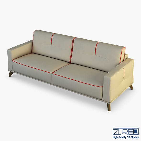 Valencia Sofa - 3DOcean Item for Sale