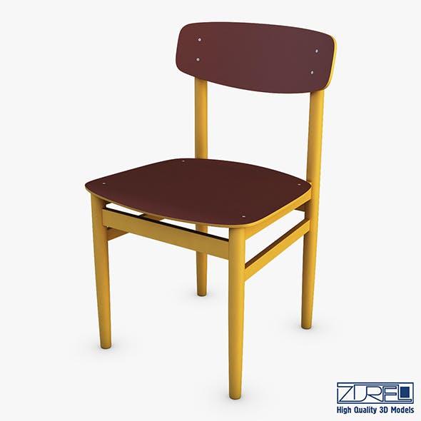 Modern green dot side chair