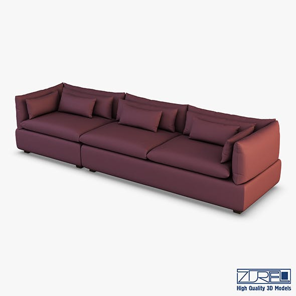 Grase sofa - 3DOcean Item for Sale