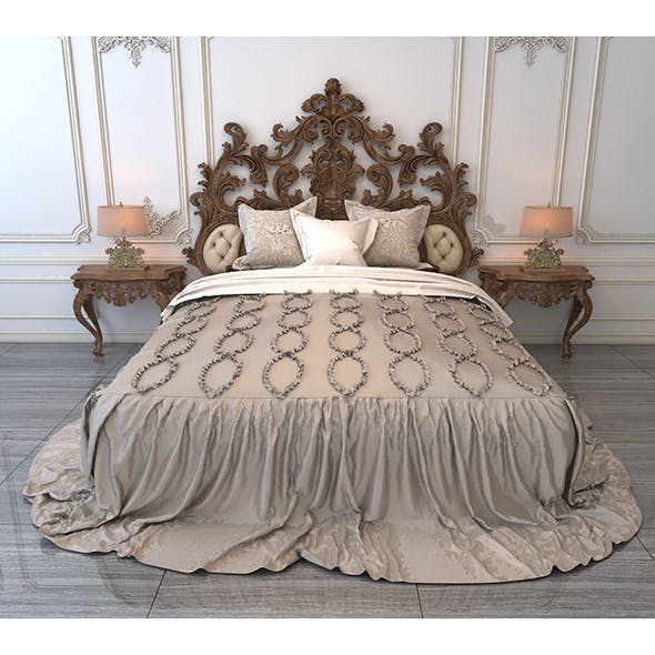 Classic Bed 6 - 3DOcean Item for Sale