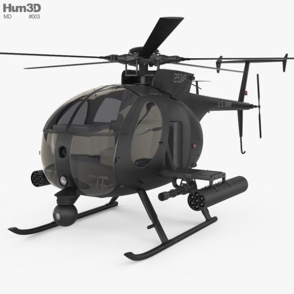 MD Helicopters MH-6 Little Bird - 3DOcean Item for Sale