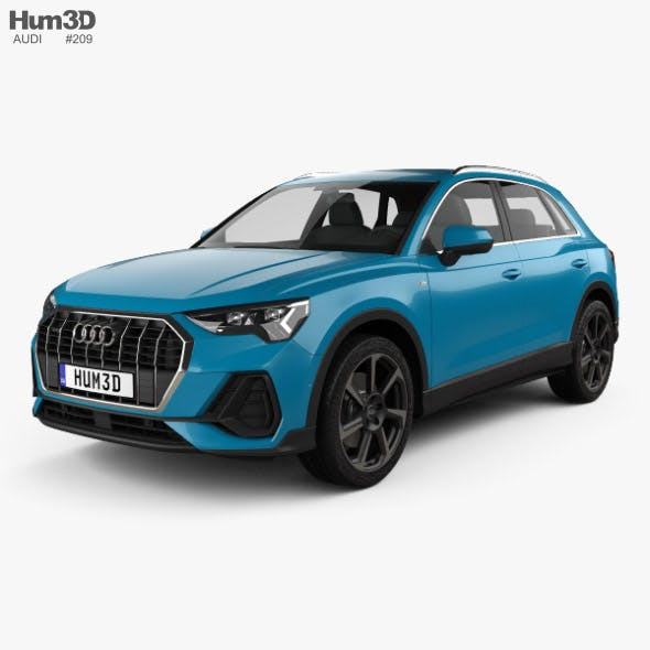 Audi Q3 S-line 2018 - 3DOcean Item for Sale