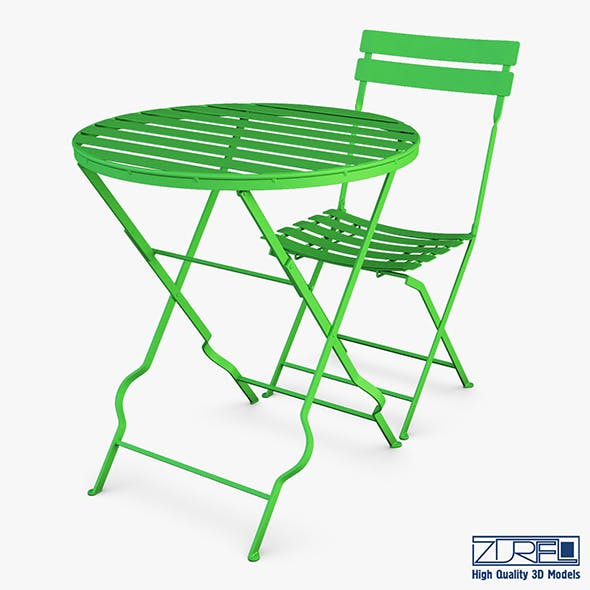 Valentino chair table - 3DOcean Item for Sale