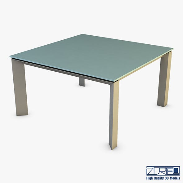 Nelio Dining Table - 3DOcean Item for Sale