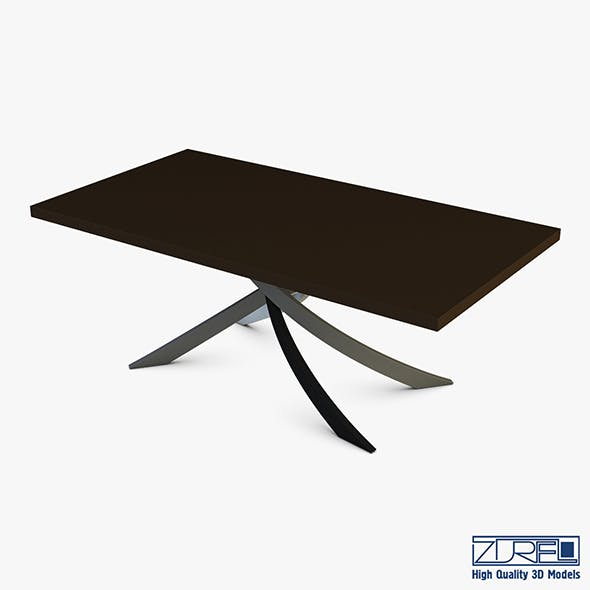 Bontempi Artistico Fixed Dining Table - 3DOcean Item for Sale