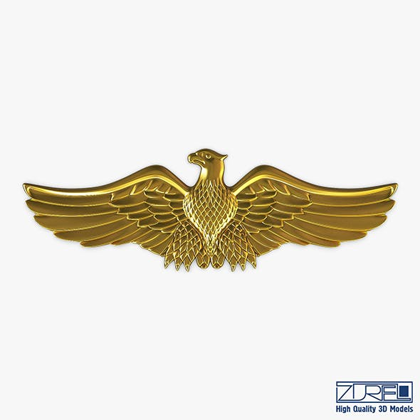 Eagle Insignia Gold - 3DOcean Item for Sale