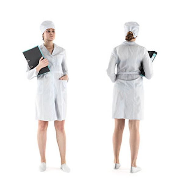 Medical nurse with a folder 68